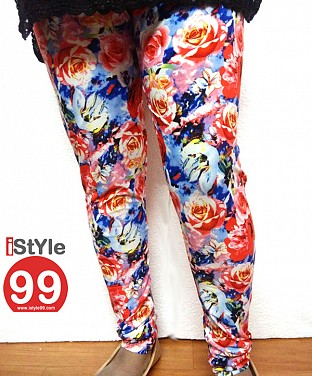 High-End European Stretchable Print Leggings @ Rs402.00