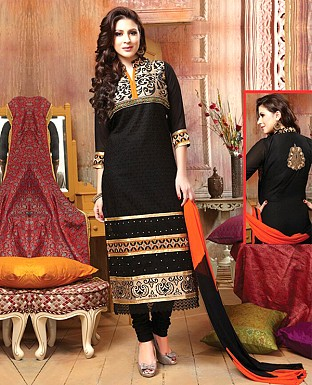 Cotton Embroidery Straight Suit With Duppata@ Rs.647.00