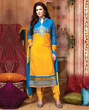 Cotton Embroidery Straight Suit With Duppta Buy Rs.711.00