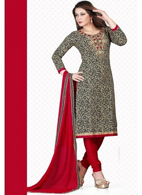 VANDV New Black & Maroon Pure Cotton Dress Material @ Rs1235.00