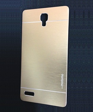 Xiaomi Redmi Note Motomo Brushed Metal Back Cover-Golden @ Rs268.00