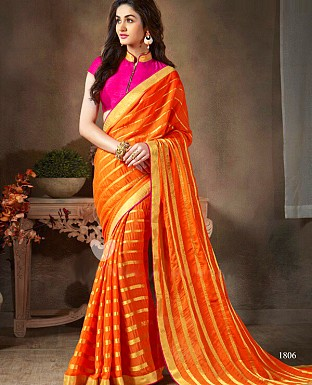Georgette Embroidered Saree with Banglori Slik Blouse@ Rs.799.00