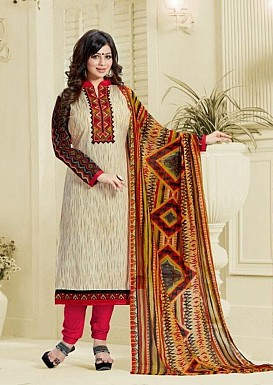 Designer unstich Lawn cotton embroidered straight suit @ Rs1175.00