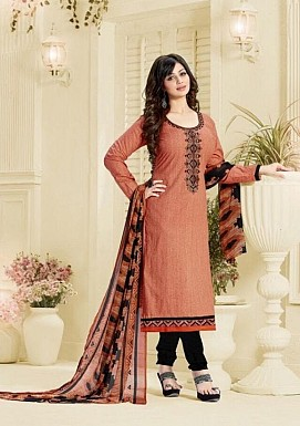 Designer unstitched Lawn cotton embroidered straight suit @ Rs1175.00