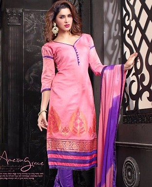Charming Look Banarasi jacquard Designer Suit@ Rs.572.00