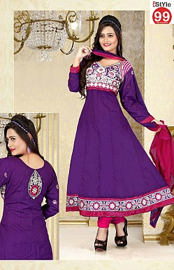 Embroidered Anarkali Suit @ Rs1029.00