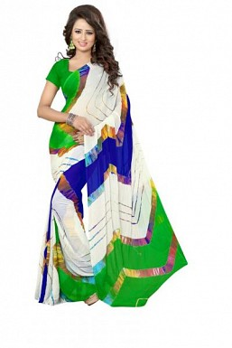 New Multi Color Printed Heavy Nazneen Casual Saree@ Rs.988.00