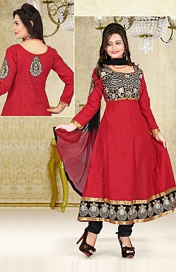 Embroidered Anarkali Suit@ Rs.647.00