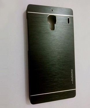 Xiaomi Redmi 1S Motomo Brushed Metal Back Cover-Black @ Rs217.00