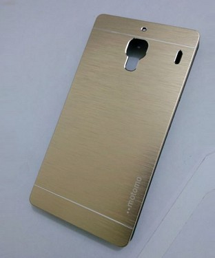 Xiaomi Redmi 1S Motomo Brushed Metal Back Cover-Golden Buy Rs.227.00
