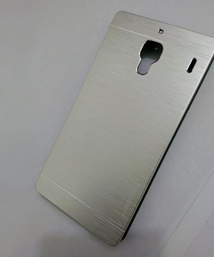 Xiaomi Redmi 1S Motomo Brushed Metal Back Cover-sliver@ Rs.227.00