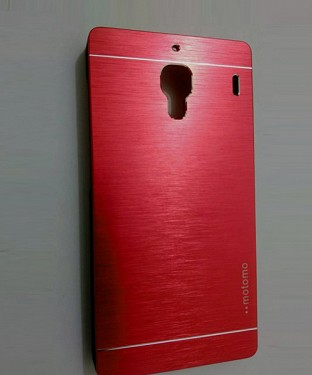 Xiaomi Redmi 1S Motomo Brushed Metal Back Cover-Red @ Rs248.00