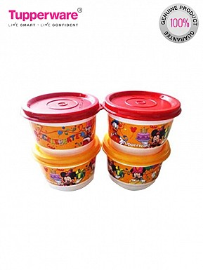 Tupperware Disney Snack Cups, 125ml, Set of 4@ Rs.509.00