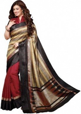 fancy red saree party wear@ Rs.494.00