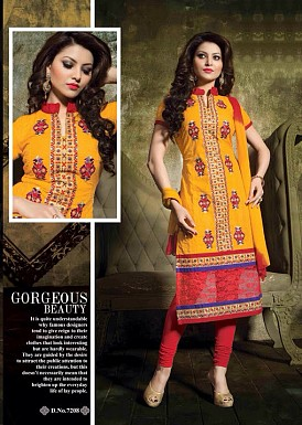 Stylish Cotton Straight Suit@ Rs.400.00