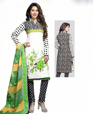 Printed Cotton Salwar Suit with Dupatta Buy Rs.514.00