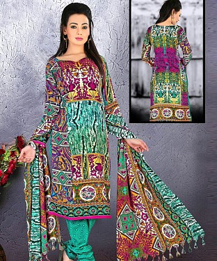 Pashmina Salwar Suit With Pashmina Shawl@ Rs.1029.00