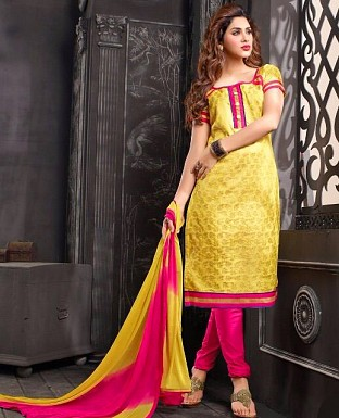 Charming Look Banarasi jacquard Designer Suit @ Rs685.00
