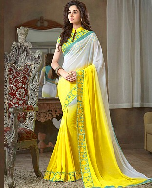 Georgette Embroidered Saree with Banglori Slik Blouse Buy Rs.1803.00