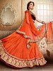 orange lehenga @ 31% OFF Rs 3770.00 Only FREE Shipping + Extra Discount - Lehenga, Buy Lehenga Online, Net, Satin, Buy Satin,  online Sabse Sasta in India - Lehengas for Women - 4139/20151012
