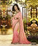 Beautiful Pink Embroidery Georgette Saree @ 45% OFF Rs 988.00 Only FREE Shipping + Extra Discount - Partywear Saree, Buy Partywear Saree Online, Georgette Saree, Deginer Saree, Buy Deginer Saree,  online Sabse Sasta in India - Sarees for Women - 8113/20160328