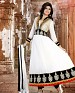 New fancy white Embroidered Anarkali Sui @ 57% OFF Rs 1169.00 Only FREE Shipping + Extra Discount - dress material, Buy dress material Online, Anarkali Suit, Salwar Suit, Buy Salwar Suit,  online Sabse Sasta in India -  for  - 3092/20150924