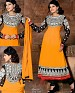 Latest Designer black orange Embroidered Anarkali suit @ 58% OFF Rs 1144.00 Only FREE Shipping + Extra Discount - Georgette, Buy Georgette Online, salwar suit, dress material, Buy dress material,  online Sabse Sasta in India -  for  - 3096/20150925