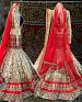 off white and red indian lehenga @ 31% OFF Rs 4635.00 Only FREE Shipping + Extra Discount - Lehenga, Buy Lehenga Online, Velvet, Santoon, Buy Santoon,  online Sabse Sasta in India - Lehengas for Women - 4146/20151012