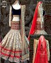 Cream Pearl Lehnga @ 31% OFF Rs 3399.00 Only FREE Shipping + Extra Discount - Lehenga, Buy Lehenga Online, Net, Santoon, Buy Santoon,  online Sabse Sasta in India - Lehengas for Women - 4148/20151012