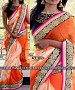 NEW DESIGNER ORANGE &  WHITE SIBORI PRINT WEIGHTLESS GOERGET INDIAN MULTY WITH SEQUNCE SAREE @ 45% OFF Rs 1700.00 Only FREE Shipping + Extra Discount - saree, Buy saree Online, georgette saree, deasiner  saree, Buy deasiner  saree,  online Sabse Sasta in India - Sarees for Women - 10402/20160622