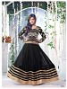 Thankar Fabulous Latest Heavy Designer Black Anarkali Suits @ 31% OFF Rs 1977.00 Only FREE Shipping + Extra Discount - Net ,Georgette, Buy Net ,Georgette Online, Semi-stitched, Anarkali suit, Buy Anarkali suit,  online Sabse Sasta in India - Semi Stitched Anarkali Style Suits for Women - 3311/20150925