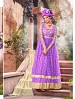 THANKAR ATTRACTIVE NET BRASSO DESIGNER PURPLE & CREAM ANARKALI SUITS @ 59% OFF Rs 1112.00 Only FREE Shipping + Extra Discount - Anarkali Suits, Buy Anarkali Suits Online, Santoon, Brasso With Net, Buy Brasso With Net,  online Sabse Sasta in India - Semi Stitched Anarkali Style Suits for Women - 3437/20150925