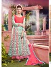 THANKAR ATTRACTIVE NET BRASSO DESIGNER PINK & GREEN ANARKALI SUITS @ 59% OFF Rs 1112.00 Only FREE Shipping + Extra Discount - Anarkali Suits, Buy Anarkali Suits Online, Santoon, Net, Buy Net,  online Sabse Sasta in India - Semi Stitched Anarkali Style Suits for Women - 3441/20150925