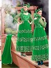 THANKAR ATTRACTIVE NET BRASSO DESIGNER GREEN ANARKALI SUITS @ 59% OFF Rs 1112.00 Only FREE Shipping + Extra Discount - Anarkali Suits, Buy Anarkali Suits Online, Santoon, Net, Buy Net,  online Sabse Sasta in India - Semi Stitched Anarkali Style Suits for Women - 3444/20150925