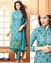 NEW DESIGNER BLUE STRAIGHT SUIT @ 56% OFF Rs 1112.00 Only FREE Shipping + Extra Discount - Suit, Buy Suit Online, Georgette, Santoon, Buy Santoon,  online Sabse Sasta in India -  for  - 4203/20151020