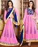 DESIGNER PINK AND BLUE ANARKALI SUIT @ 31% OFF Rs 1915.00 Only FREE Shipping + Extra Discount - Georgette, Buy Georgette Online, Semi-stitched, Anarkali suit, Buy Anarkali suit,  online Sabse Sasta in India - Salwar Suit for Women - 4271/20151020