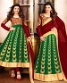 MAROON AND GREEN ANARKALI SUIT @ 31% OFF Rs 1915.00 Only FREE Shipping + Extra Discount - Georgette, Buy Georgette Online, Lehanga Suit, Anarkali suit, Buy Anarkali suit,  online Sabse Sasta in India -  for  - 4277/20151020