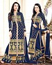 DESIGNER NAVY BLUE STRAIGHT PLAZO SUIT @ 26% OFF Rs 1853.00 Only FREE Shipping + Extra Discount - Georgette, Buy Georgette Online, Semi-stitched, Anarkali suit, Buy Anarkali suit,  online Sabse Sasta in India -  for  - 4287/20151020
