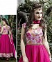 THANKAR PINK BANGLORI SILK WITH BHAGLPURI PRINT ANARKALI SUIT @ 31% OFF Rs 1730.00 Only FREE Shipping + Extra Discount - BANGLORI SILK, Buy BANGLORI SILK Online, ANARKALI SUIT, SEMI STITCHED, Buy SEMI STITCHED,  online Sabse Sasta in India - Salwar Suit for Women - 5350/20151209