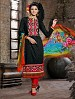 THANKAR BLACK COTTON JAQUARD PARTY WEAR STRAIGHT SUIT @ 31% OFF Rs 1668.00 Only FREE Shipping + Extra Discount - COTTON JAQUARD SUIT, Buy COTTON JAQUARD SUIT Online, Semi-stitched Suit, Straight suit, Buy Straight suit,  online Sabse Sasta in India - Salwar Suit for Women - 5965/20160112