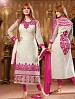 THANKAR PINK AND WHITE COTTON STRAIGHT SUIT @ 31% OFF Rs 1235.00 Only FREE Shipping + Extra Discount - Cotton Suit, Buy Cotton Suit Online, Semi-stitched Suit, Straight suit, Buy Straight suit,  online Sabse Sasta in India - Salwar Suit for Women - 5976/20160112