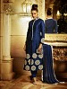THANKAR NAVY BLUE HEAVY EMBROIDERY STRAIGHT SUIT @ 42% OFF Rs 1050.00 Only FREE Shipping + Extra Discount - Banglori Silk, Buy Banglori Silk Online, Semi-stitched Suit, Straight suit, Buy Straight suit,  online Sabse Sasta in India - Salwar Suit for Women - 6000/20160112