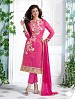 Heavy Pink Chanderi Cotton Salwar Kameez @ 31% OFF Rs 1050.00 Only FREE Shipping + Extra Discount - Cotton Suit, Buy Cotton Suit Online, Semi-stitched Suit, Straight suit, Buy Straight suit,  online Sabse Sasta in India - Salwar Suit for Women - 6344/20160210