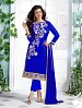 Heavy Blue Chanderi Cotton Salwar Kameez @ 31% OFF Rs 1050.00 Only FREE Shipping + Extra Discount - Cotton Suit, Buy Cotton Suit Online, Semi-stitched Suit, Straight suit, Buy Straight suit,  online Sabse Sasta in India -  for  - 6345/20160210