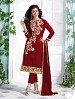 Heavy Red Chanderi Cotton Salwar Kameez @ 31% OFF Rs 1050.00 Only FREE Shipping + Extra Discount - Cotton Suit, Buy Cotton Suit Online, Semi-stitched Suit, Straight suit, Buy Straight suit,  online Sabse Sasta in India -  for  - 6348/20160210
