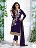 Heavy Navy Blue Chanderi Cotton Salwar Kameez @ 31% OFF Rs 1050.00 Only FREE Shipping + Extra Discount - Cotton Suit, Buy Cotton Suit Online, Semi-stitched Suit, Straight suit, Buy Straight suit,  online Sabse Sasta in India - Salwar Suit for Women - 6350/20160210