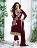 Heavy Maroon Chanderi Cotton Salwar Kameez @ 31% OFF Rs 1050.00 Only FREE Shipping + Extra Discount - Cotton Suit, Buy Cotton Suit Online, Semi-stitched Suit, Straight suit, Buy Straight suit,  online Sabse Sasta in India - Salwar Suit for Women - 6352/20160210