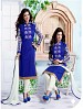 Heavy Blue Chanderi Cotton Salwar Kameez @ 31% OFF Rs 1050.00 Only FREE Shipping + Extra Discount - Cotton Suit, Buy Cotton Suit Online, Semi-stitched Suit, Straight suit, Buy Straight suit,  online Sabse Sasta in India -  for  - 6359/20160210