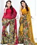 New Printed Red and Yellow Designer Saree @ 37% OFF Rs 1791.00 Only FREE Shipping + Extra Discount - Designer Saree, Buy Designer Saree Online, EMBROIDERY Saree, GEORGETTE Saree, Buy GEORGETTE Saree,  online Sabse Sasta in India - Sarees for Women - 9390/20160520