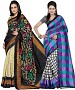 COMBO ONE MULTI PRINTED SAREE AND MULTY PRINTED SAREE @ 31% OFF Rs 926.00 Only FREE Shipping + Extra Discount - BHAGALPURI SILK, Buy BHAGALPURI SILK Online, Designer Saree, Partywear saree, Buy Partywear saree,  online Sabse Sasta in India - Sarees for Women - 9592/20160520